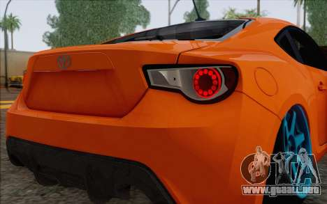 Toyota GT86 Lowstance para visión interna GTA San Andreas