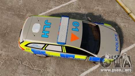 Ford Mondeo Metropolitan Police [ELS] para GTA 4 visión correcta