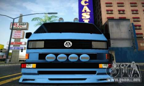 Volkswagen Transporter T2 Tuning para GTA San Andreas vista posterior izquierda