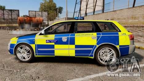 Audi S4 Avant Metropolitan Police [ELS] para GTA 4 left