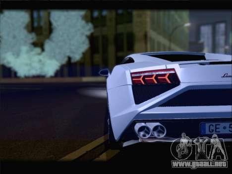 Lamborghini Gallardo 2013 para la vista superior GTA San Andreas