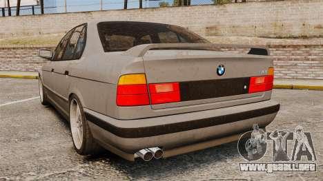 BMW M5 E34 para GTA 4 Vista posterior izquierda