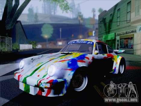Porsche 911 RSR 3.3 skinpack 6 para GTA San Andreas vista posterior izquierda