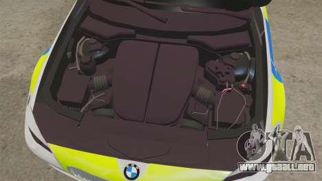 BMW 550d Touring Metropolitan Police [ELS] para GTA 4 vista interior
