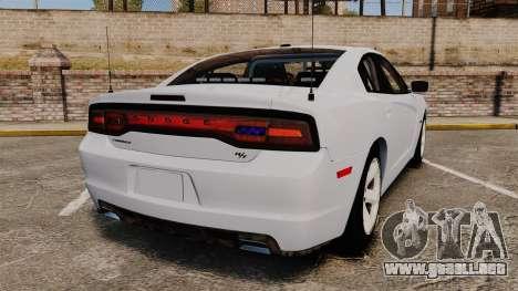 Dodge Charger RT 2012 Unmarked Police [ELS] para GTA 4 Vista posterior izquierda