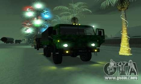 Ejército KAMAZ 4310 para GTA San Andreas vista hacia atrás