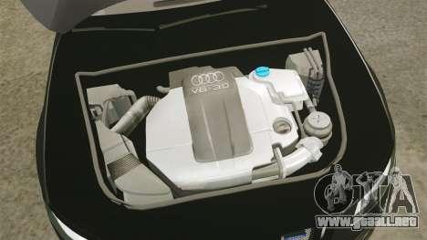 Audi S4 Unmarked Police [ELS] para GTA 4 vista interior
