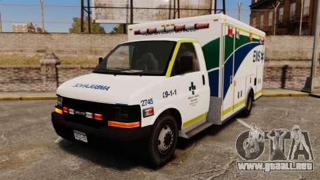 Brute Alberta Health Services Ambulance [ELS] para GTA 4