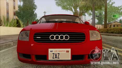Audi TT 1.8T para GTA San Andreas vista hacia atrás