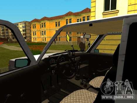 VAZ 21214 para GTA San Andreas vista hacia atrás