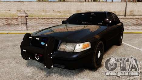Ford Crown Victoria Stealth [ELS] para GTA 4