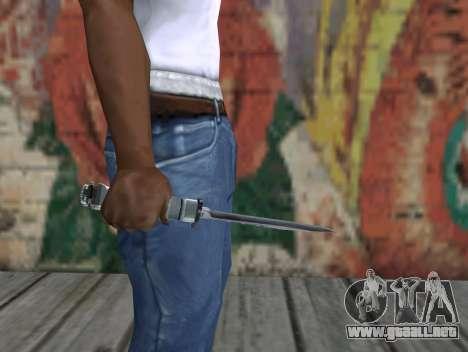 Cuchillo de S.T.A.L.K.E.R. para GTA San Andreas tercera pantalla
