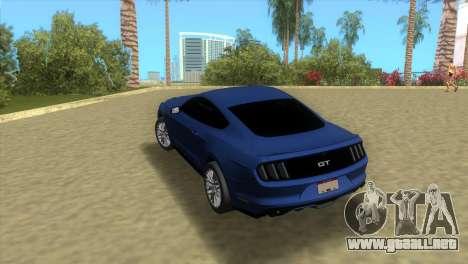 Ford Mustang GT 2015 para GTA Vice City vista lateral izquierdo