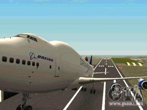 Boeing-747 Dream Lifter para la vista superior GTA San Andreas
