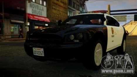 Dodge Charger LAPD 2008 para GTA 4 left