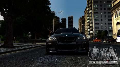 BMW X6 M Hamann 2013 Vossen para GTA 4 Vista posterior izquierda