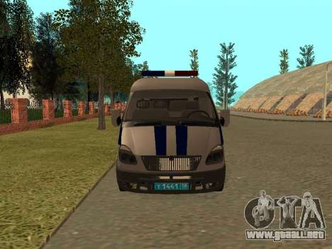 Policía Sable del GAS para GTA San Andreas left