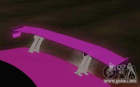 Toyota Mark 2 para GTA San Andreas vista hacia atrás