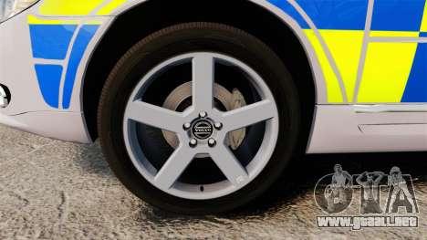 Volvo V70 Metropolitan Police [ELS] para GTA 4 vista hacia atrás