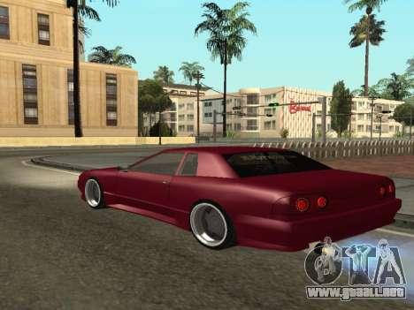 JTX Tuned Elegy para GTA San Andreas vista posterior izquierda