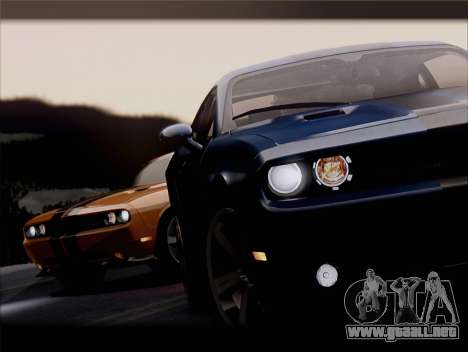 Dodge Challenger SRT8 2012 HEMI para GTA San Andreas interior