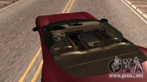 Carbonizzare de GTA 5 para GTA San Andreas vista posterior izquierda