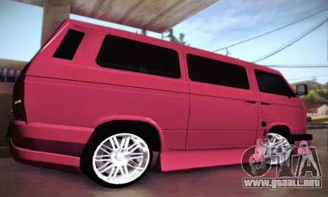 Volkswagen Transporter T2 Tuning para vista lateral GTA San Andreas