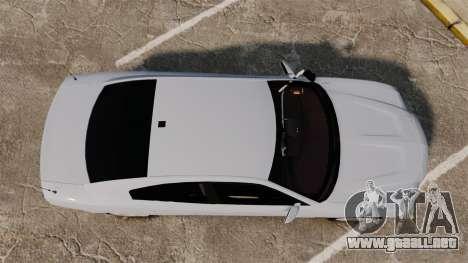 Dodge Charger RT 2012 Unmarked Police [ELS] para GTA 4 visión correcta