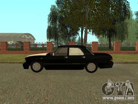 GAZ 3110 Volga para GTA San Andreas vista posterior izquierda