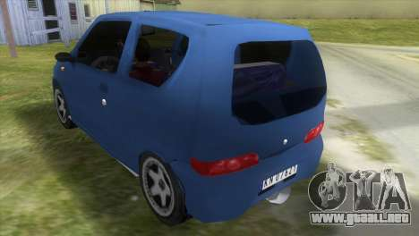 Fiat Seicento para GTA Vice City vista lateral izquierdo