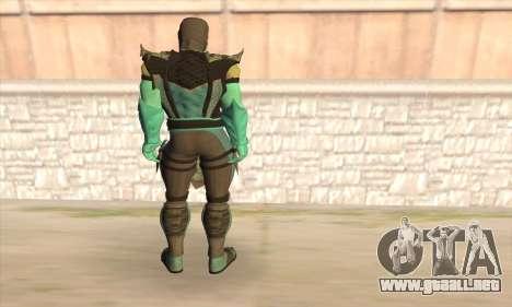 Sub Zero para GTA San Andreas segunda pantalla