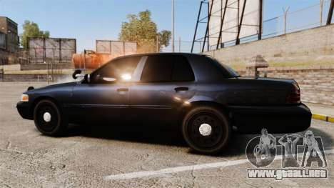 Ford Crown Victoria Stealth [ELS] para GTA 4 left