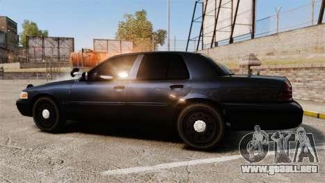Ford Crown Victoria Stealth [ELS] para GTA 4 left