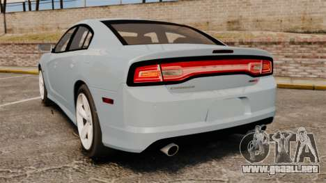 Dodge Charger 2012 para GTA 4 Vista posterior izquierda