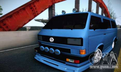 Volkswagen Transporter T2 Tuning para GTA San Andreas vista hacia atrás