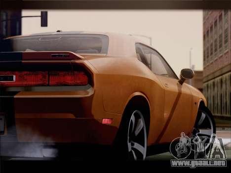 Dodge Challenger SRT8 2012 HEMI para GTA San Andreas vista hacia atrás
