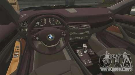 BMW 550d Touring Metropolitan Police [ELS] para GTA 4 vista lateral