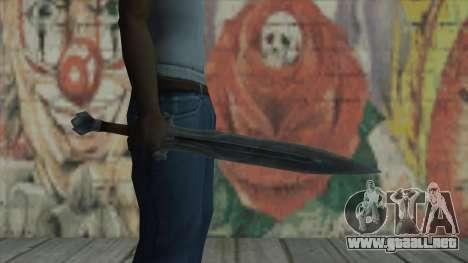La espada imperial para GTA San Andreas tercera pantalla