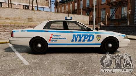 GTA V Vapid Police Cruiser NYPD para GTA 4 left