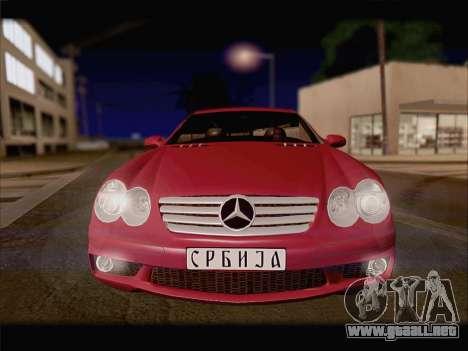 Mercedes SL500 v2 para GTA San Andreas vista posterior izquierda