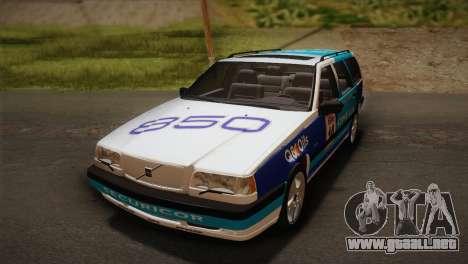 Volvo 850 Estate Turbo 1994 para vista lateral GTA San Andreas