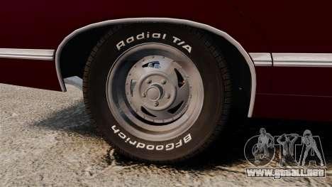 Chevrolet Impala 1967 para GTA 4 vista hacia atrás