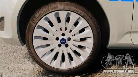 Ford Mondeo Metropolitan Police [ELS] para GTA 4 vista hacia atrás