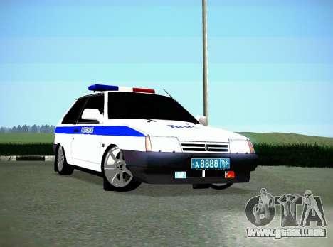 VAZ 2108 DPS para GTA San Andreas left
