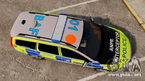 Volvo V70 Metropolitan Police [ELS] para GTA 4 visión correcta