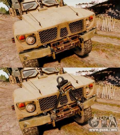 Oshkosh M-ATV para GTA 4 vista lateral