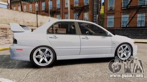 Mitsubishi Lancer Unmarked Police [ELS] para GTA 4 left