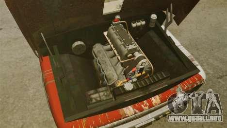 Chevrolet Tow truck rusty Rat rod para GTA 4 vista hacia atrás