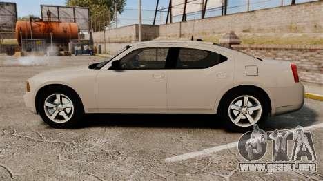 Dodge Charger Unmarked Police [ELS] para GTA 4 left