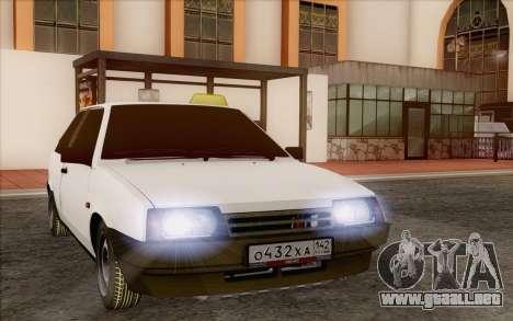 VAZ 2108 Taxi para GTA San Andreas vista hacia atrás